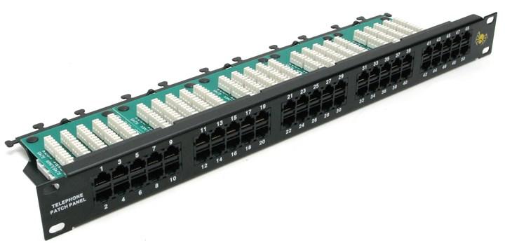 Коммутационная панель Patch Panel 19 1U телефонная 50 port RJ