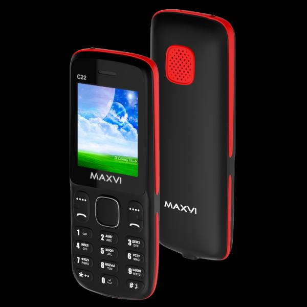 Телефон MAXVI C22 Black-Red